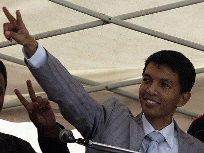 Vůdce opozice na Madagaskaru Andry Rajoelina