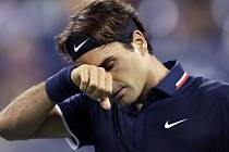 Zklamaný Roger Federer.