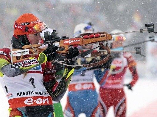 Gabriela Soukalová si připsala další triumf v SP biatlonistek.