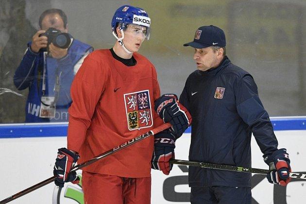 Trenér Josef Jandač (vpravo) a Martin Nečas.