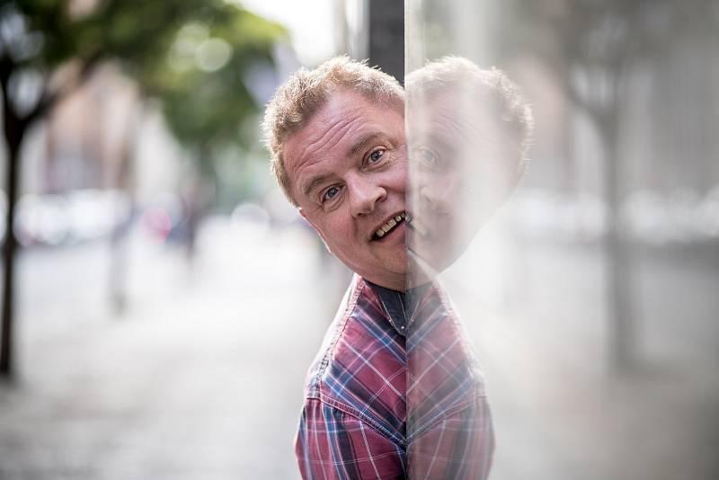 Václav Kopta při focení pro rozhovoru pro Deník 11. června v Praze.