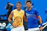 Rafael Nadal a Novak Djokovič před finále Australian Open