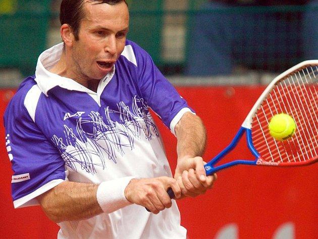 Radek Štěpánek na turnaji Czech Open v Prostějově.