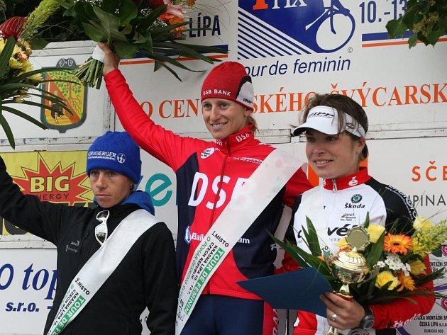Tři nejrychlejší ženy letošního ročníku Tour de Feminin.