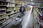 Zákaznice v berlínském supermarketu