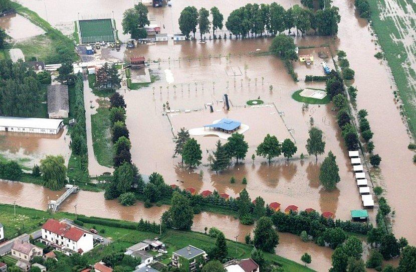 Povodeň v Chlumci nad Cidlinou v roce 2013.