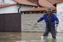 Záplavy ve Středočeském kraji  - Hořín.