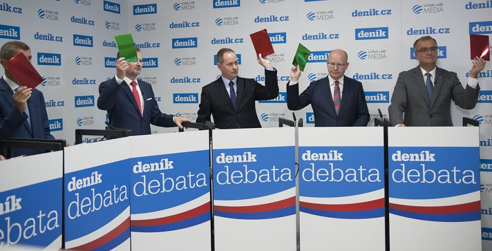 Předvolební debata lídrů politických stran.