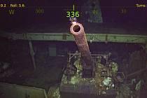 Vrak potopené letadlové lodi USS Hornet