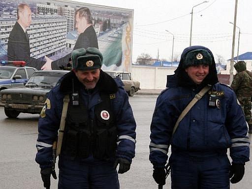 Čečenští policisté. Ilustrační foto