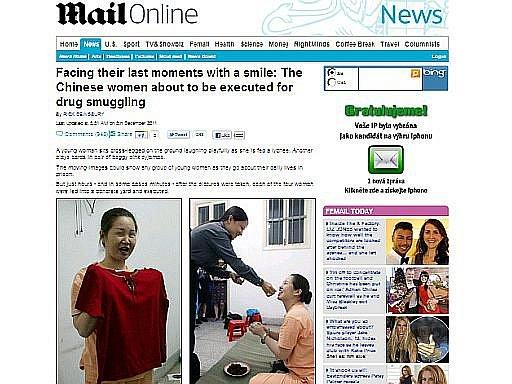 Britský list Daily Mail přinesl článek o čínských odsouzenkyním na smrt
