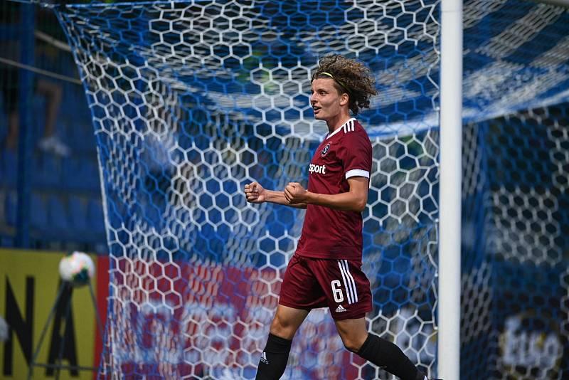 Filip Souček se raduje z gólu do sítě Liberce.