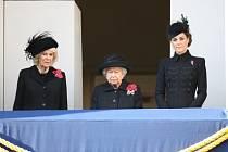 Vévodkyně Camilla, královna Alžběta II. a vévodkyně Kate