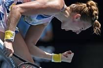 Česká tenistka Petra Kvitová v osmifinále Australian Open.