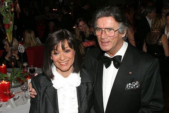 Marie Versini se svým filmovým bratrem Pierrem Bricem.