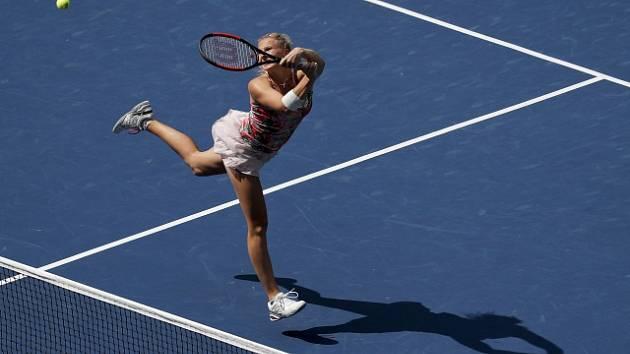 Kateřina Siniaková ve finále čtyřhry na US Open.