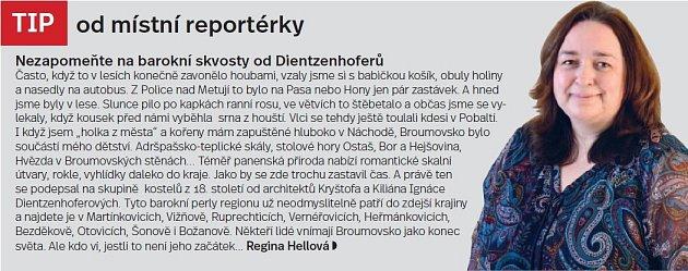 Broumovsko, tip reportéra