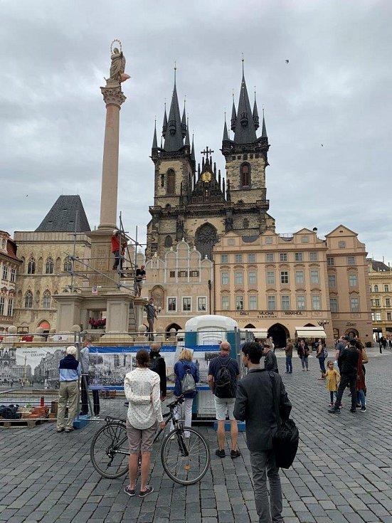 Staroměstské náměstí bez turistů
