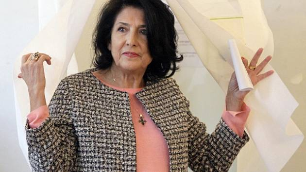 Salome Zurabišviliová, vítězka prezidentských voleb v Gruzii