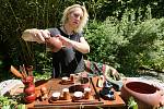 Čajovna U vysmáté žáby, příprava na akci čaj fest