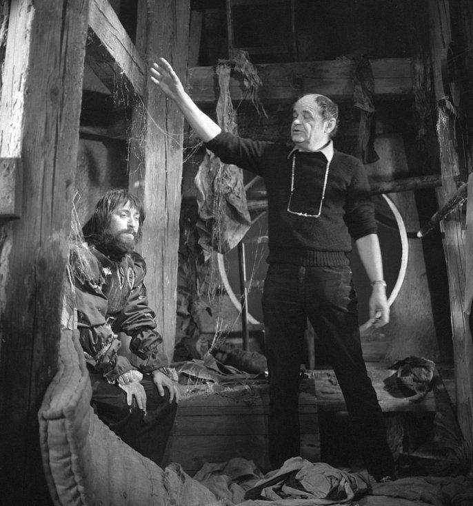 S Jiřím Lábusem během natáčení pokračování Arabely.