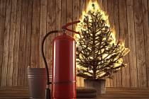 Požár vánočního stromku - Ilustrační foto