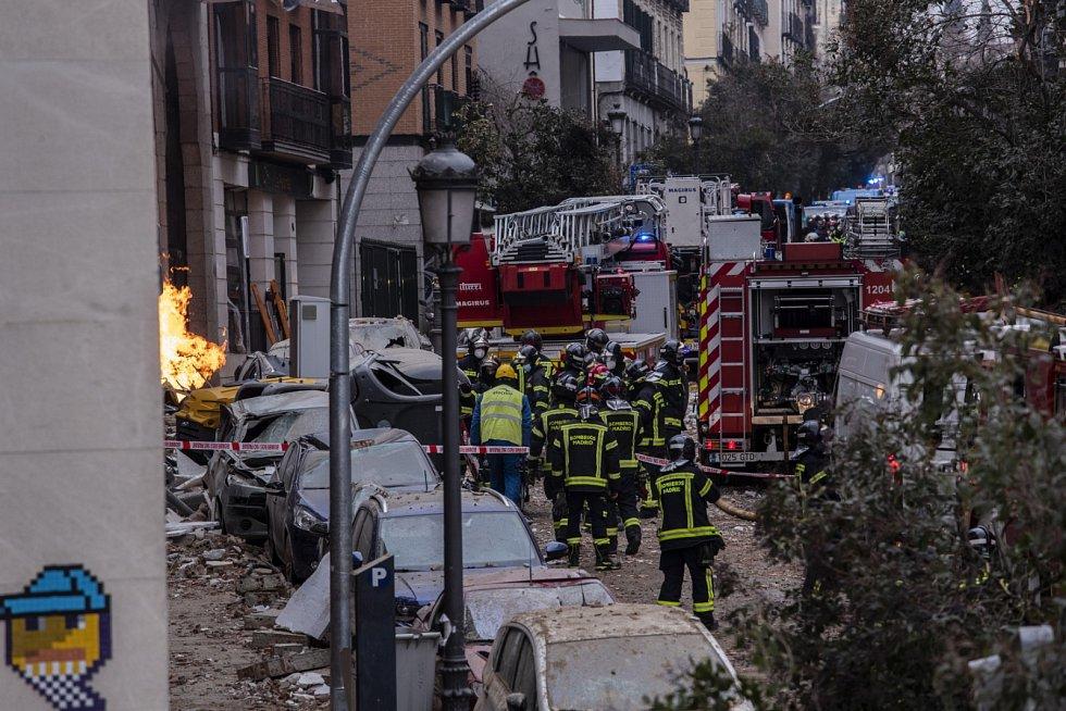 Výbuch v centru španělského Madridu