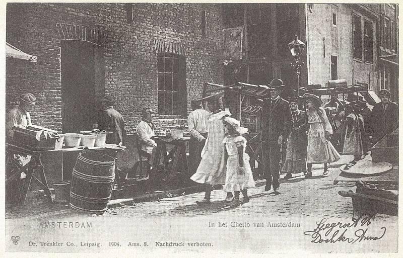 Amsterdamská židovská čtvrť v době před 1. světovou válkou, mezi roky 1900 až 1914