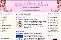 Na stránkách www.oblikacky.cz si děti mohou obléknou nejen celebrity, ale také různá zvířata.