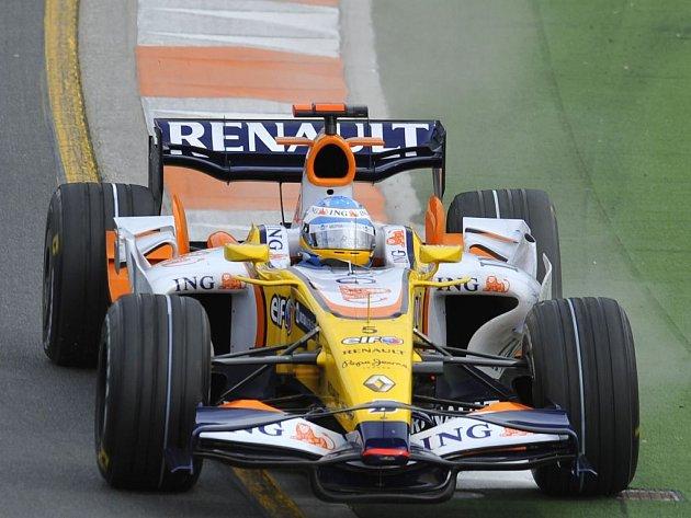 Fernando Alonso s Renaultem.