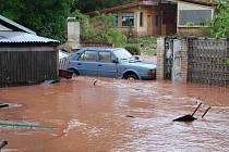 Červnová povodeň v Rudníku na Trutnovsku.