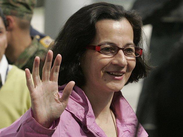 Politička Clara Rojas, propuštěná ze zajetí.