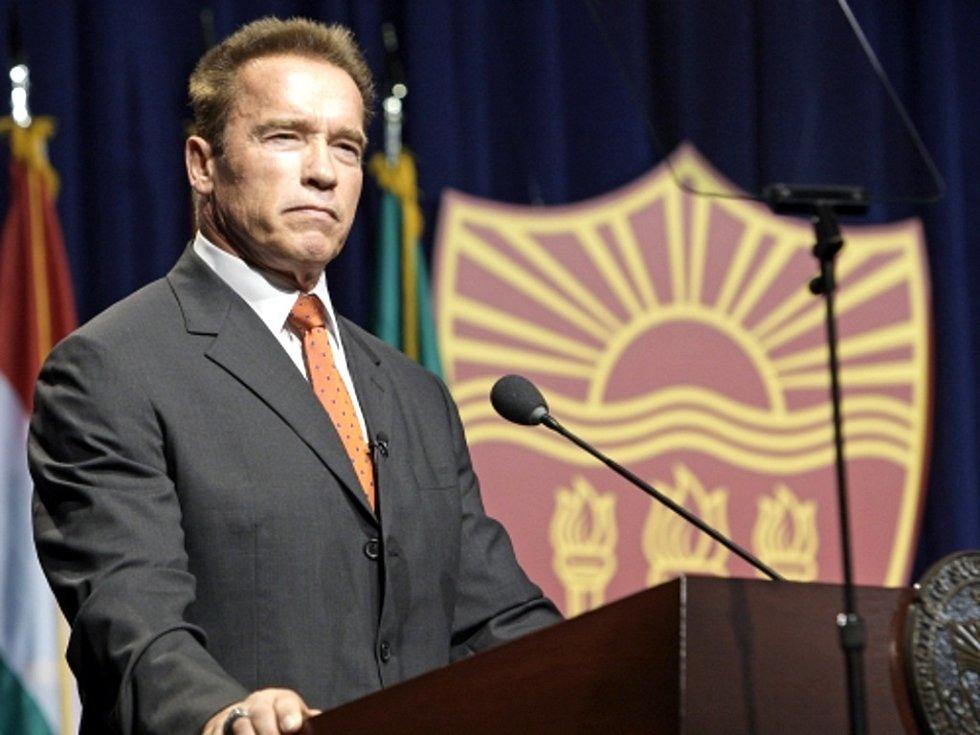 Herec a bývalý kalifornský guvernér Arnold Schwarzenegger.
