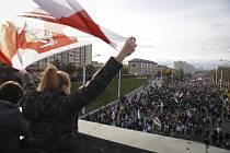 Lidé v Bělorusku protestují proti výsledku prezidentských voleb