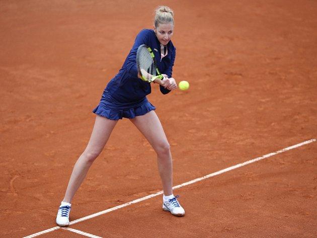 Kristýna Plíšková na turnaji v Praze.