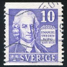 Emanuel Swedenborg na švédské známce z roku 1938