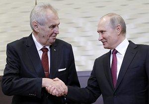 Miloš Zeman a Vladimir Putin v Soči