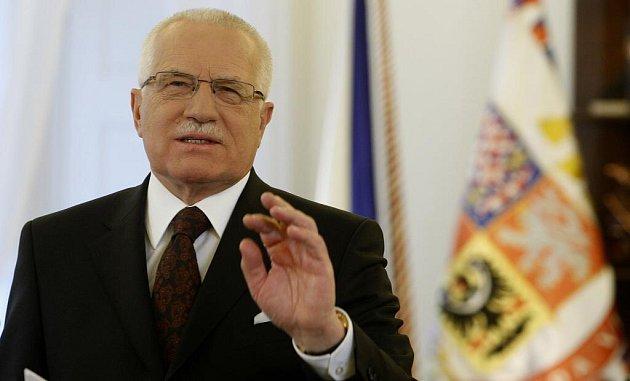 Prezident České republiky Václav Klaus přednesl svůj tradiční novoroční projev.