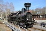 Historická lokomotiva zvaná heligón