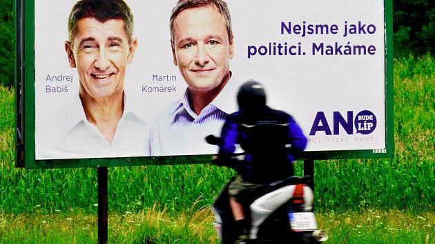 Andrej Babiš by rád pro své hnutí získal kolem deseti procent hlasů.