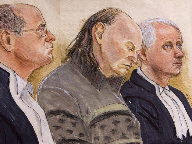 Z vraždy šesti žen uznala porota v kanadském New Westminsteru v neděli vinným chovatele vepřů Roberta Picktona (uprostřed).