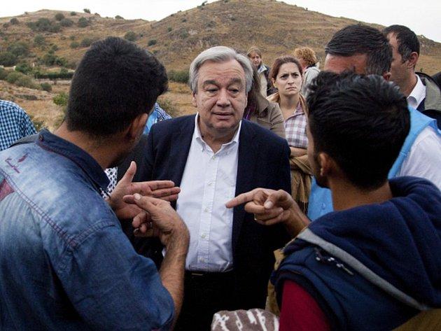 António Guterres, který v Řecku strávil dva dny na inspekční cestě v souvislosti s migrační krizí.