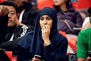 Saúdskoarabská fanynka. Fotbalové MS Rusko 2018