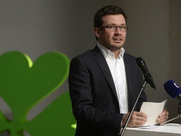 Předseda zelených Ondřej Liška.