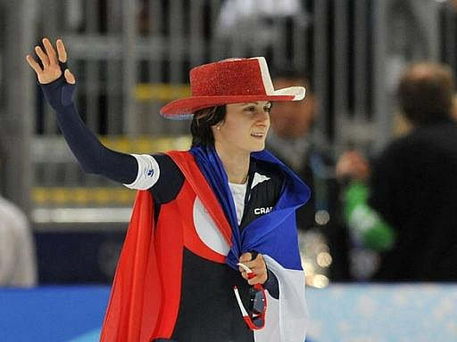 Martina Sáblíková je po triumfu v závodu na 5000 m dvojnásobnou olympijskou šampionkou.