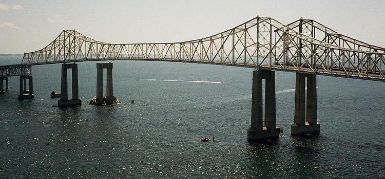 Most Sunshine Skyway (Florida) - původní most