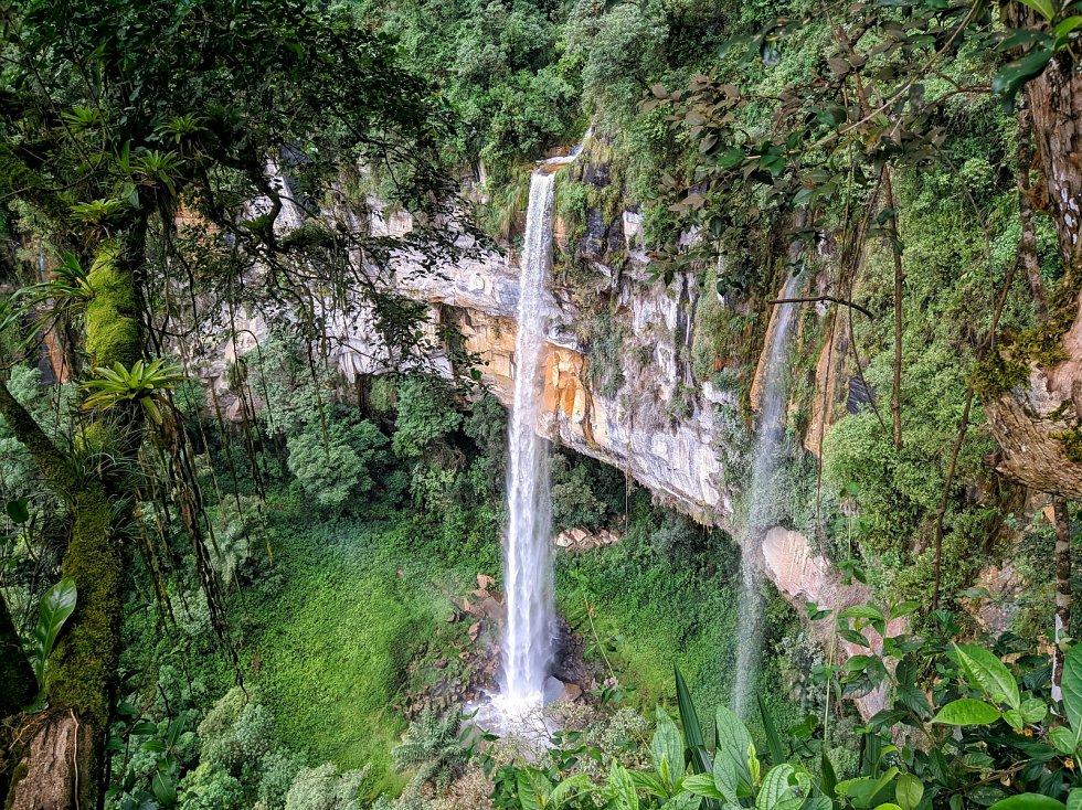 Vodopád Yumbilla v Peru