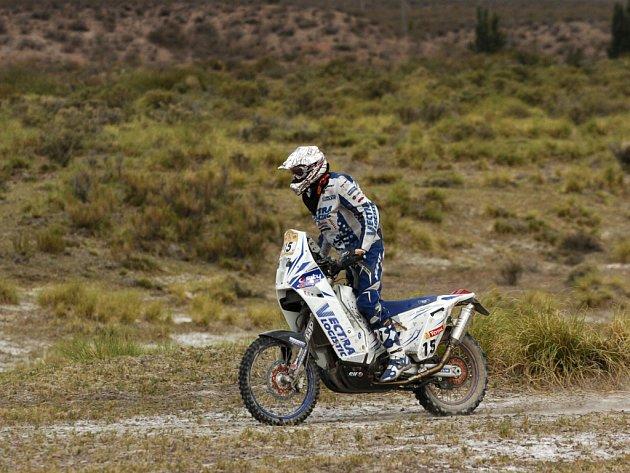 Nizozemec Frans Verhoeven na KTM během 3. etapy Rallye Dakar.