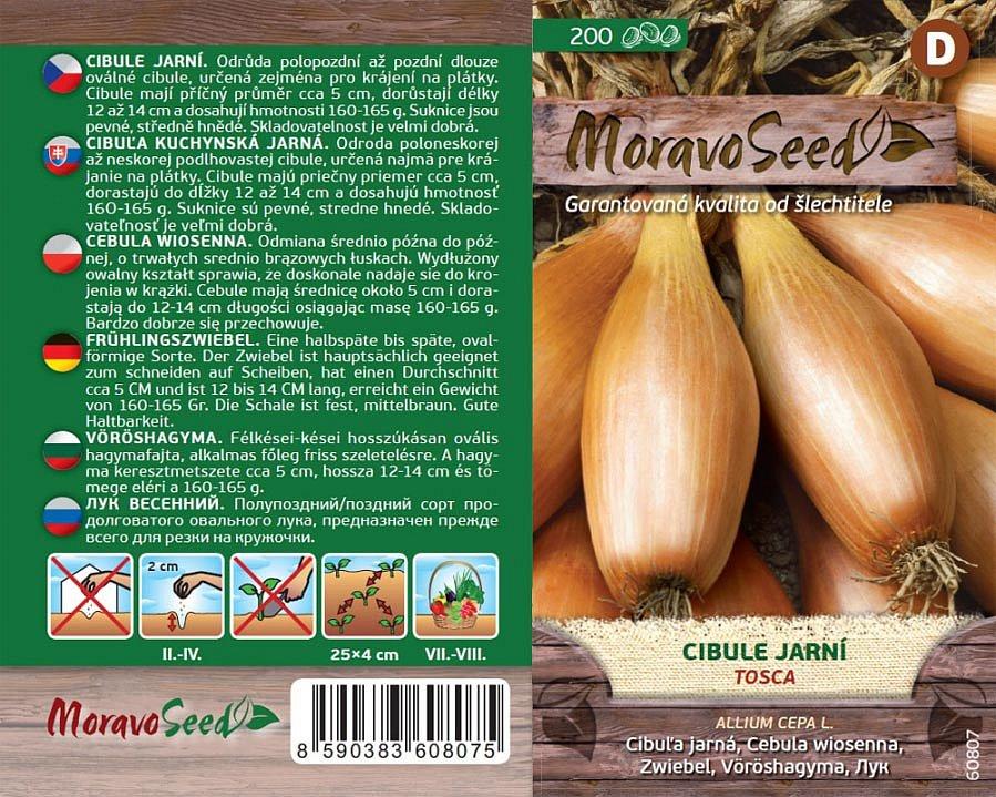 Kromě klasických druhů zeleniny lze dnes koupit i semínka jarních odrůd. Na snímku semena cibule Tosca