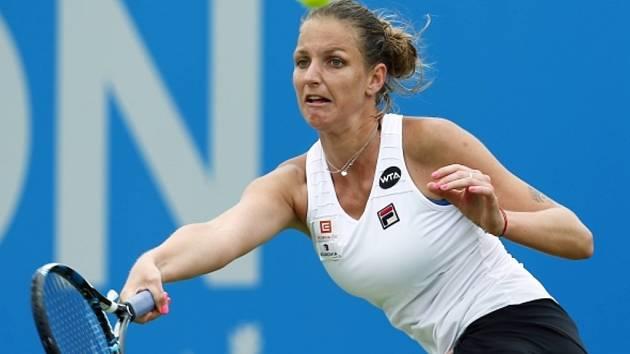 Karolína Plíšková na turnaji v Nottinghamu.